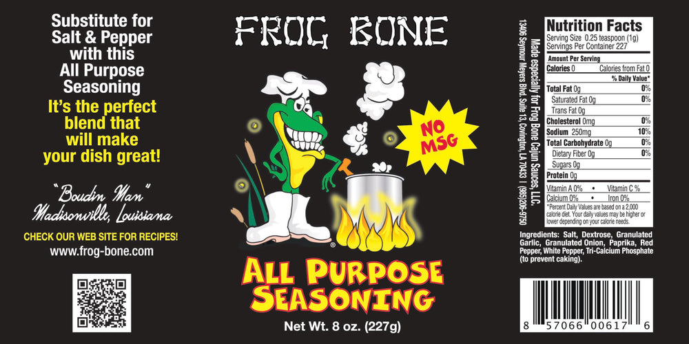 Frog Bone All Purpose Seasoning, 8oz