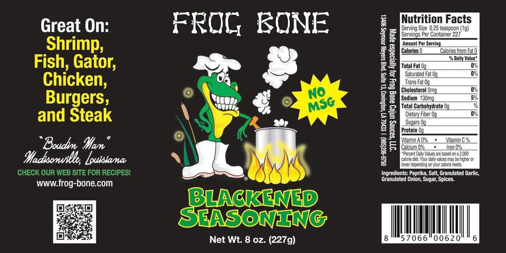Frog Bone Blackened Seasoning - 8oz