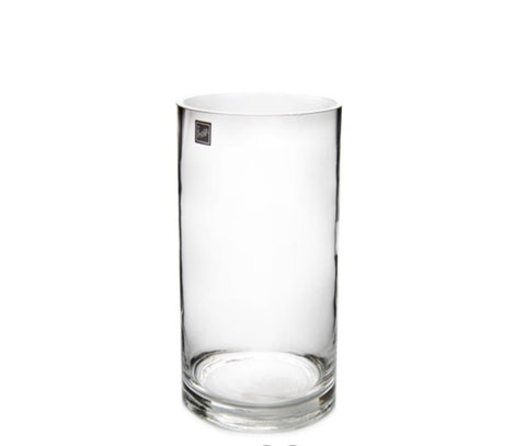 Glass Cylinder Vase 12Dx28cmH Clear