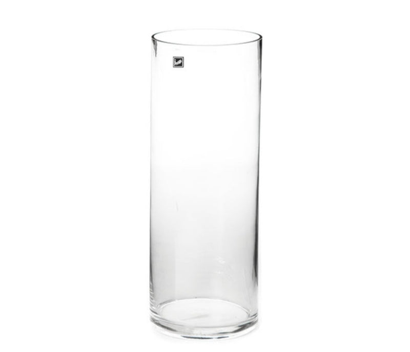 Glass Cylinder Vase 15Dx40cmH Clear