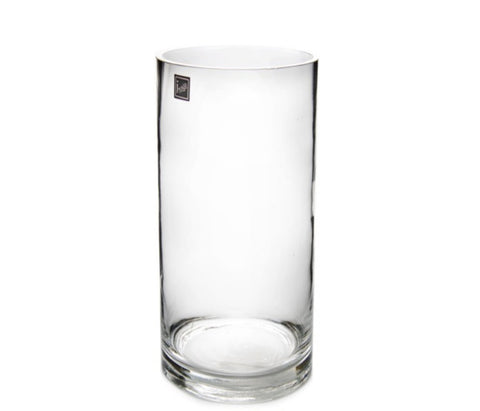 Glass Cylinder Vase 14Dx32cmH Clear