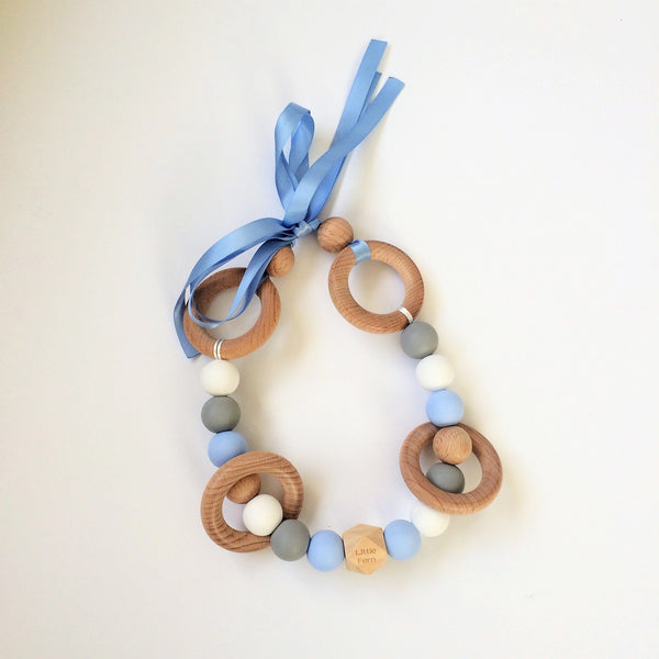 Blue Mint Pram Garland