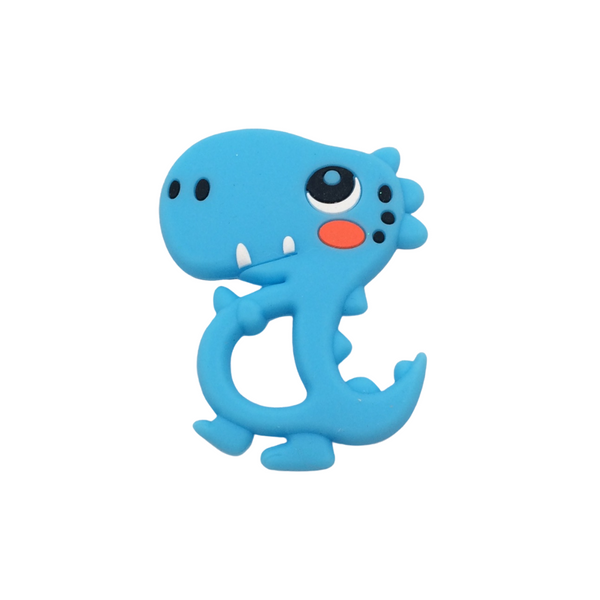 Silicone Dino Teether - Blue