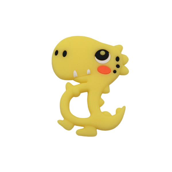 Silicone Dino Teether - Yellow