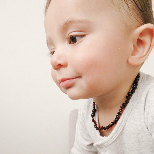 AMBER CHERRY TEETHING NECKLACE