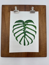 "Load image into Gallery viewer, Original watercolor painting - Monstera deliciosa (narrow form) aka ""Dilacerata"""