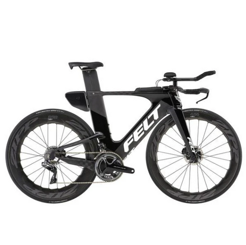 2019 FELT IA FRD DISC MATT TEXTREME BLACK/WHITE TRIATHLON BIKE - Sportopia Cycles