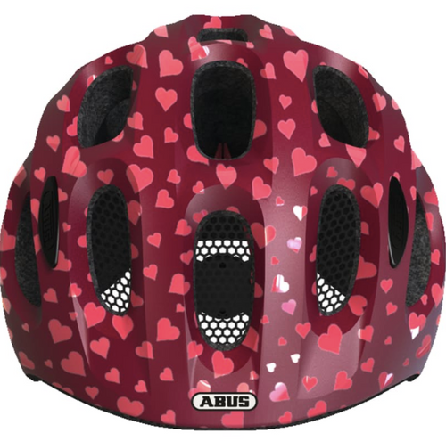 ABUS - YOUN-I SPARKLING PINK HEARTS SMALL HELMET - Sportopia Cycles