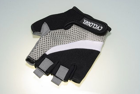 CYCLOGEL BLACK AND GREY PRO LITE SHORT FINGERED GLOVES SIZE L - Sportopia Cycles