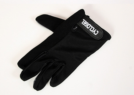 CYCLOGEL BLACK GEL PADDED LONG FINGERED GLOVES SIZE L - Sportopia Cycles
