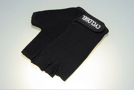 CYCLOGEL BLACK GEL PADDED SHORT FINGERED GLOVES SIZE XL - Sportopia Cycles
