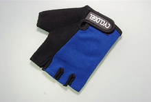 Load image into Gallery viewer, CYCLOGEL BLUE AND BLACK GEL PADDED SHORT FINGERED GLOVES SIZE XL - Sportopia Cycles