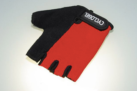 CYCLOGEL RED AND BLACK GEL PADDED SHORT FINGERED GLOVES SIZE L - Sportopia Cycles