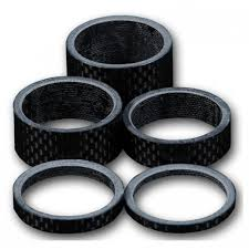 "ALLOY HEADSET SPACERS 1 1/8"" BLACK - Sportopia Cycles"
