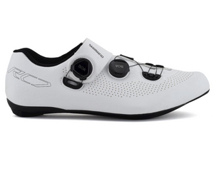SHIMANO RC701S WHITE ROAD SHOE SIZE 44 ( UK 9 ) - Sportopia Cycles