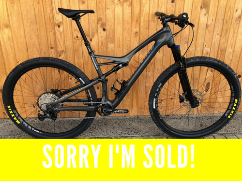2018 CUSTOM BUILD CARBON SPECIALIZED CAMBER LARGE 29ER MTB - Sportopia Cycles