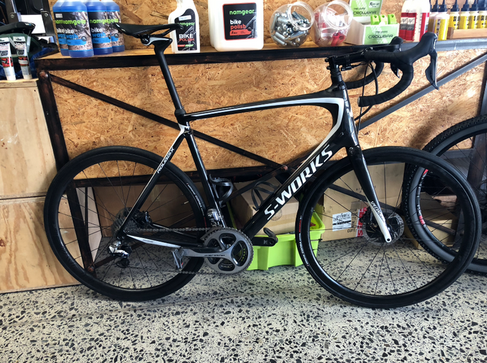 2018 SPECIALIZED ROUBAIX CARBON DISC 61CM PRE-OWNED - Sportopia Cycles