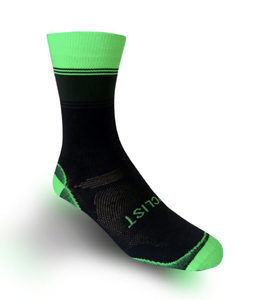 THE CYCLIST - SPORTIF VERT LUMO GREEN, MILITARY GREEN AND BLACK SOCKS - Sportopia Cycles