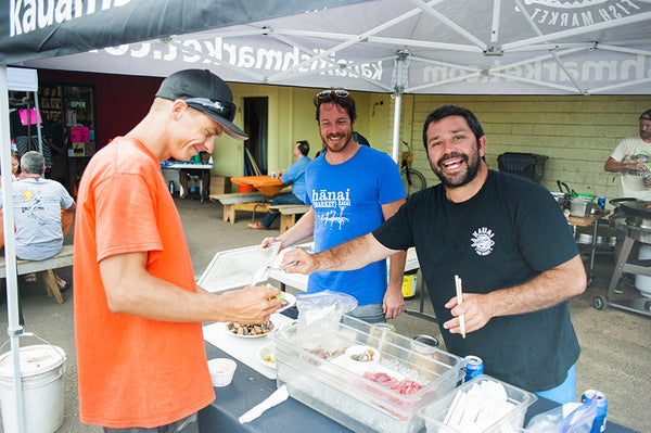 tamba surf company, kauai, kapaa, bbq, ohana night, appreciation, family, kauai fish market, hanai, cheyanne jewels, sacred surf, art, art walk, art night