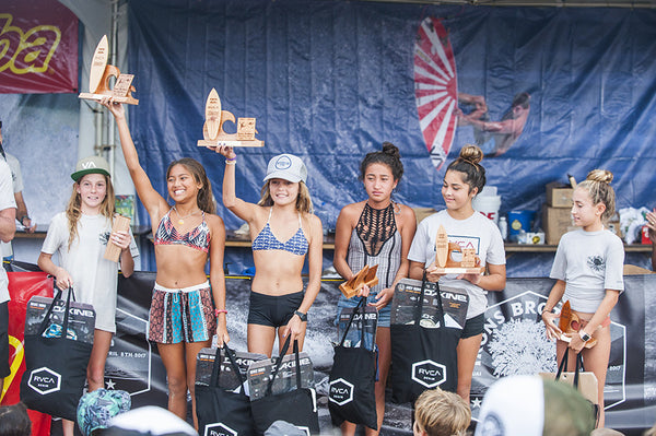 16th annual irons brother pine trees classic hanalei tamba surf company girls winners