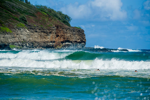 kauai, beach, rock quarry, surf spot, north shore, hawaii, surf, surfer, wave,