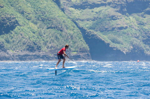 Na Pali Race, Stand Up Paddleboard, Prone Paddleboard, OC-1, OC-2, Surfski, Holupuni, Sailing, Canoe, race, Haena Beach Park, Na Pali Coast,Polihale State Beach Park, Kauai, Hawaii, Evan Valiere, foil, foil fun run