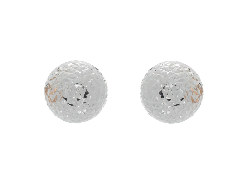 Diamond-Cut Ball Studs