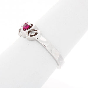 Triple Heart Diamond Birthstone Ring
