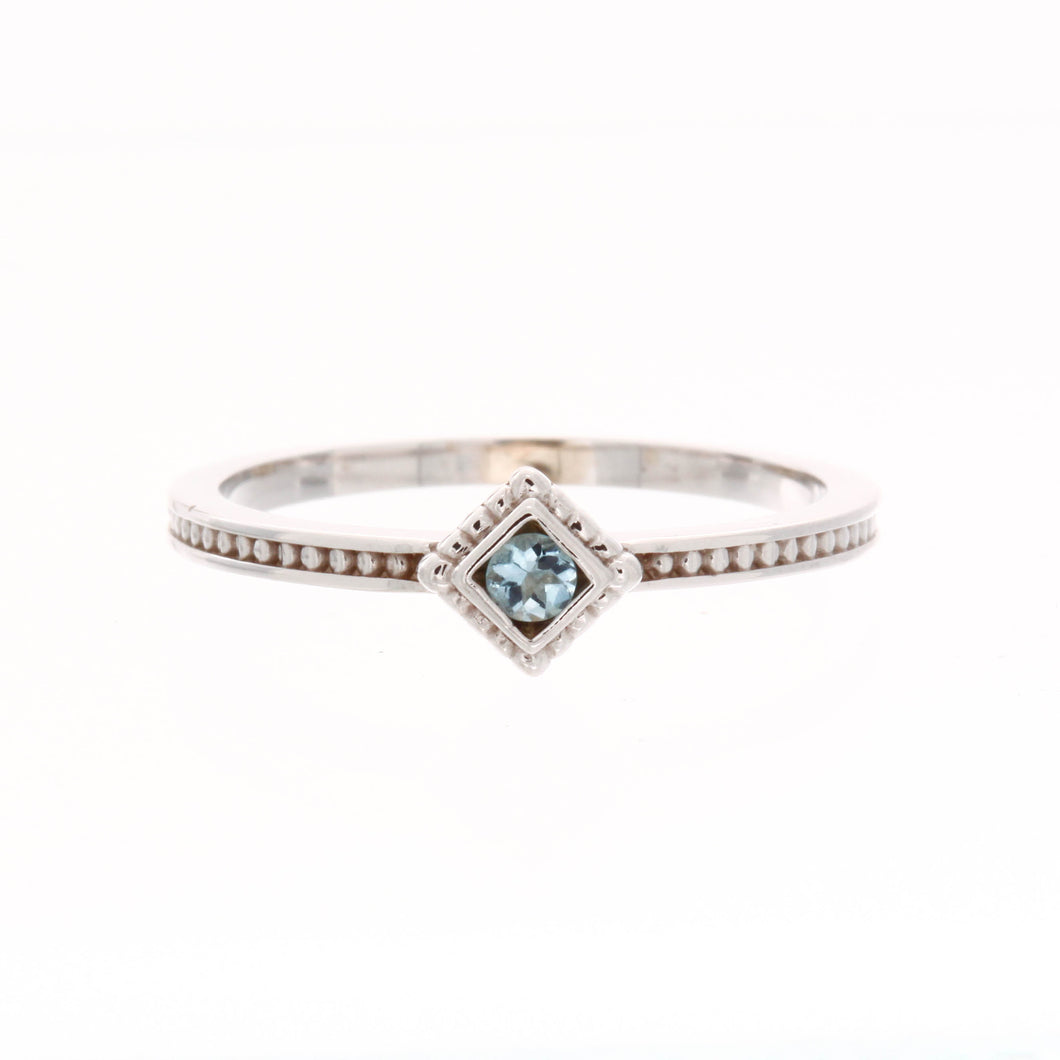 Stackable Square Birthstone Ring