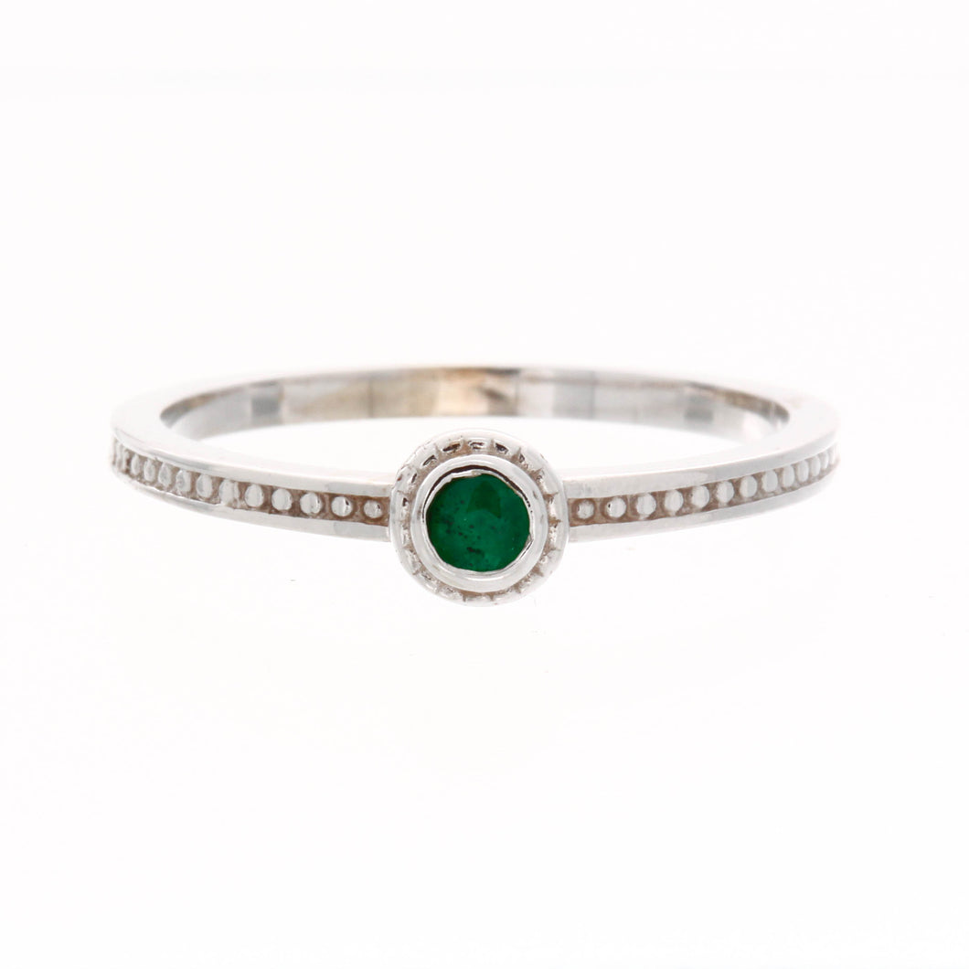 Stackable Round Birthstone Ring