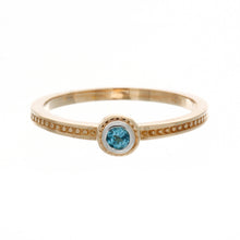 Load image into Gallery viewer, Stackable Round Birthstone Ring
