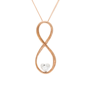 Diamond Infinity Pendant With Heart