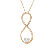Load image into Gallery viewer, Diamond Infinity Pendant With Heart