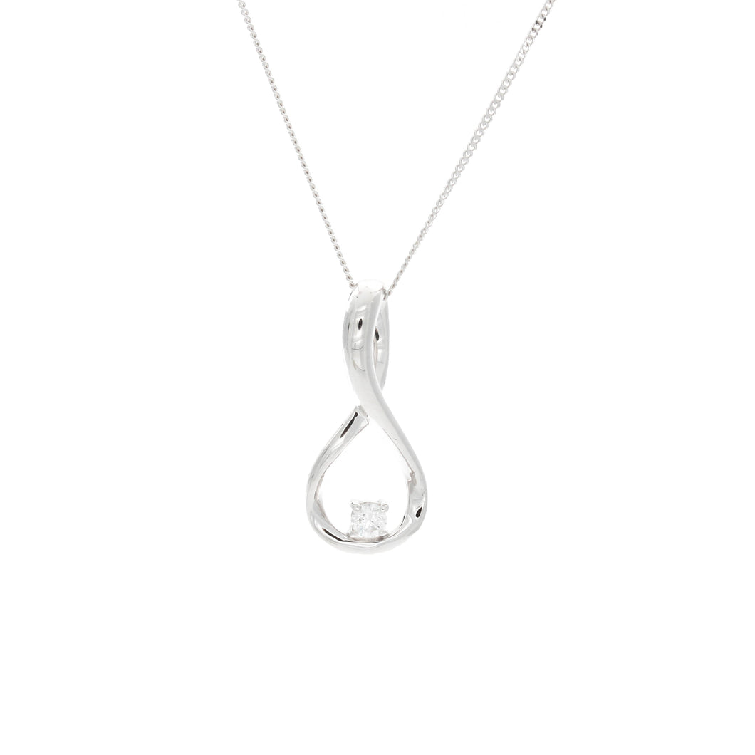Diamond Twisted Infinity Pendant