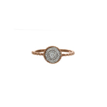 Load image into Gallery viewer, Diamond Two Tone Circle Cluster Ring