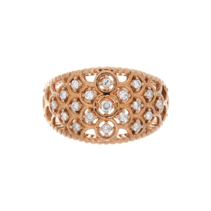 Diamond Scalloped Ring