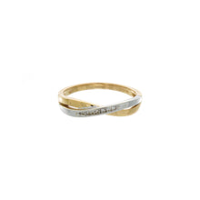 Load image into Gallery viewer, Diamond Two Tone Crossover Ring
