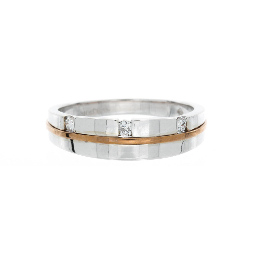 Men's Two Tone Diamond Ring