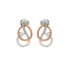 Load image into Gallery viewer, Diamond Two Tone Double Pear Shape Earrings