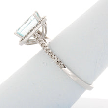 Load image into Gallery viewer, Diamond Aquamarine Ring