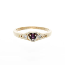 Load image into Gallery viewer, Heart Diamond Birthstone Ring