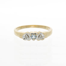 Load image into Gallery viewer, Triple Inversed Heart Diamond Birthstone Ring