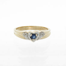 Load image into Gallery viewer, Double Heart Diamond Birthstone Ring