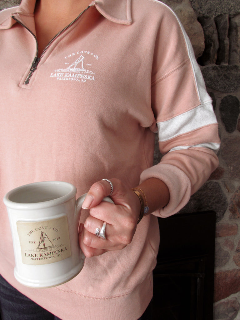 KAMPESKA QUARTER ZIP | BLUSH