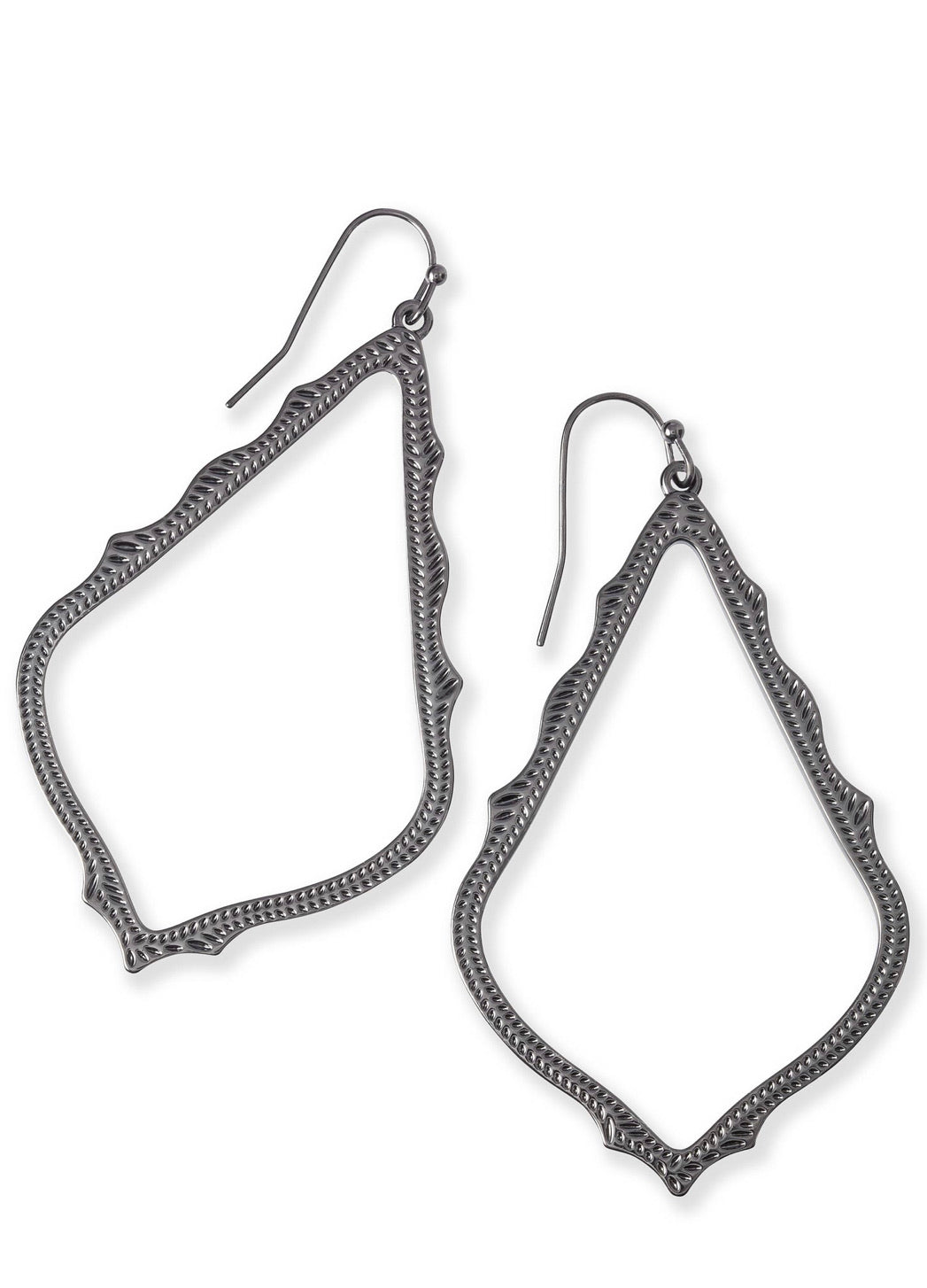 The Sophee drop earring in gunmetal