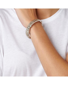 Tandem double layer stretch bracelet