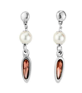 Pearl and rose earring