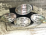 Beautiful Girl, You Can Do Hard Things Hand Stamped Leather Cuff Bracelet