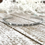 Be your own kind of beautiful--strong woman--inspirational jewelry--birthday gift--friend gift--religious--hand stamped--skinny silver