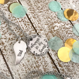 Always in my heart-memorial necklace--remembrance necklace-father memorial jewelry--memorial gift--sympathy gift--loss gift--father memorial